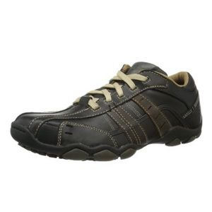 Skechers Diameter Vassell Black Tan Casual Oxford